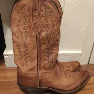 Shoes - Brown leather cowboy boots